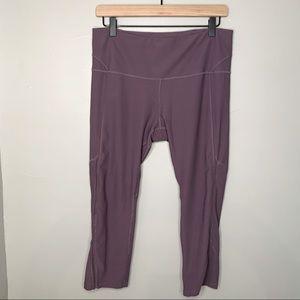 Yoga pants dark lavender size large thin venting